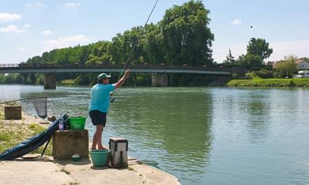 Gaves réunis à Peyrehorade, bon coin pour la pêche au coup