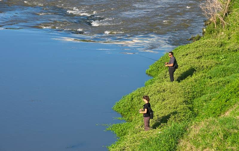 Pêcheurs en rivière