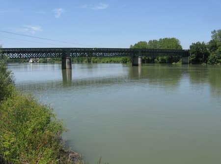 Fleuve Adour entre Bayonne et Dax
