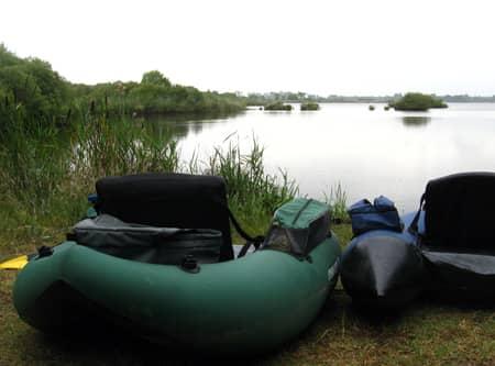 float-tube sur le petit étang de biscarrosse