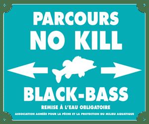 Panneau signalant un parcours nokill black-bass